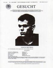 The Bourne Supremacy, Wanted Fax Poster, Matt Damon