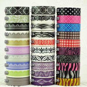 Paper Washi Masking Tape Sticky Adhesive Roll Decorative SOMI BORDER PATTERN