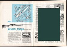 1964 Franchi Automatic Shotgun Exploded View.Parts List.2-pg Assembly Article