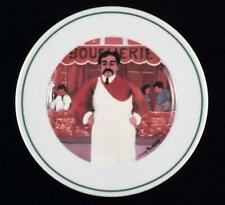 """Guy Buffet L'Etalage Shopkeepers The Butcher Porcelain 7 3/4"""" Plate"""