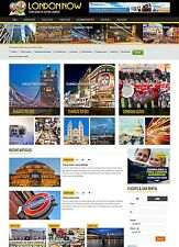 London UK Hotel Travel website for sale Affiliate mobile design Optional CART