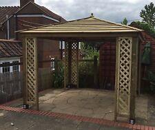 3.0m Wooden Gazebo - Trellis Corners - Fully Built by Hand (Not KIT)