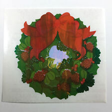 Vtg Rare Sandylion WREATH BOW Mother of Pearl Pearly Sticker Back Dated 1989