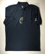 Greg Norman Blue Polo Shirt Size XL With Sponsor NWT