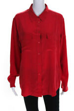 Equipment Femme Womens Button Blouse Red Size Medium