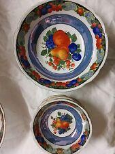 antico servizio da mecedonia per 5 in porcellana colorata