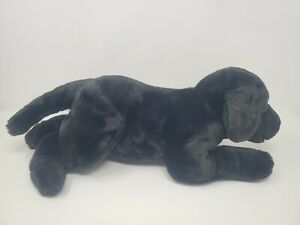 Animal Alley Toys R Us Black Labrador Retriever Lab Dog Stuffed Plush Puppy 17""