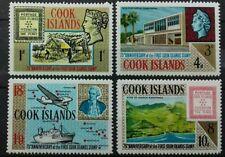 COOK ISLANDS 1967 75TH ANNIV. 1ST POSTAGE STAMPS SG 222 -225 MNH OG