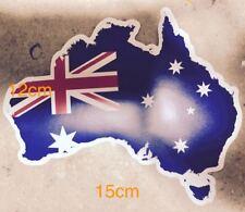 AUSTRALIA MAP W/ FLAG STICKER  AUSTRALIANA AUSSIE DECALS STICKERS CAR