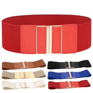 Women's Fashion Accessory Stretchable Wide Waist Belt Elastic Band Cinch Trimmer