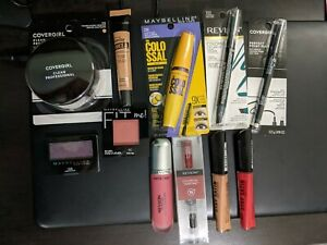 11 Piece Mixed Makeup Lot #1 Revlon Maybelline CoverGirl Rimmel