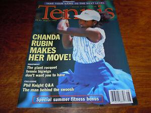 "VINTAGE AUGUST 1996 "" TENNIS "" MAGAZINE - CHANDA RUBIN COVER"