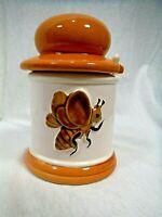 VTG Honey Pot Jar Ceramic Honey Bee by Armbee Japan Rare