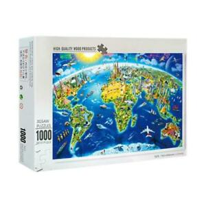 1000 Pieces Pcs Beautiful World Landmarks Map Jigsaw Puzzle Toy Adults Kids
