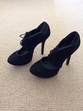 Stiletto Suede Office Lace-up Heels for Women