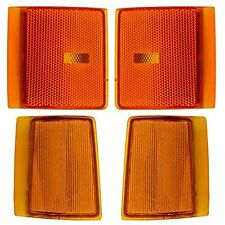 4 Piece Set Upper and Lower Signal Side Marker Lights Lamps Replacement for GMC