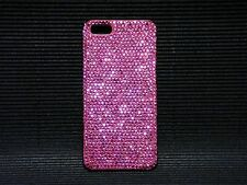 Pink Made with Swarovski Crystals White Back Case Cover Bling iPhone 6/6S Plus