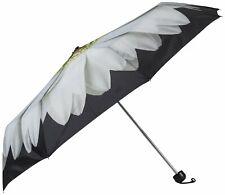 "Abbott Collection White Daisy Folding Umbrella 38"""