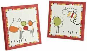 CoCo & Company Baby Farm 2-Piece Wall Art Set