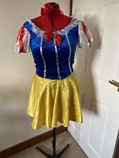 Sexy Snow White Costume Adult Fairytale Halloween Fancy Dress UK M