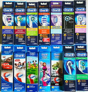 ALL MODELS 100 % GENUINE ORAL-B BRAUN   TOOTHBRUSH REPLACEMENT HEADS