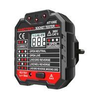 HABOTEST HT106E Digital Socket Tester Phase Check Detector Voltage Tester N#S7