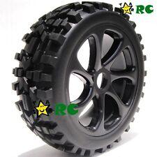 2pcs 1:8 RC All Terrain Buggy Tires Wheels for Losi HPI XTR Badlands Car Upgrade