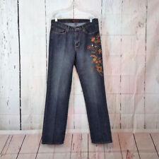 Bogari Womens Size 31x32 10 Medium Wash Embroidered Bootcut Denim Blue Jeans