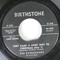 Hear! Christmas Rare 45 The Evergreens - They Came A Long Way To Christmas / Sam