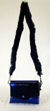 STREET LEVEL Navy Mirror Fur Patent Leather Shoulder Cross Body Bag Msrp $68.00