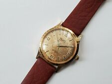 Rare Vintage Relide Automatic Swiss Made Tropical Mens Watch Gold Felsa F1560