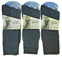 1-6 Mens Merino Wool Socks Outdoor Walking Work Boot Soft Charcoal Socks 6-11