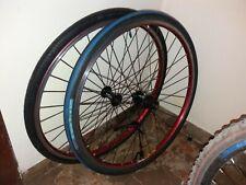 Coppia di Ruote 26 complete Per Bici Bicicletta mountain bike mtb corsa rulli