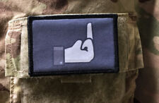 Facebook Dislike Middle Finger Morale Patch Tactical Military USA  Army  Funny