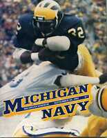 1981 Michigan vs. Navy Football Program MBX5