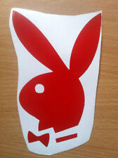 Playboy bunny decal for cars, computers or skateboard. Blue, red or pink sticker