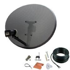 Sky Hd Satellite Dish Zone 2 & Quad Lnb + 10m Twin Coax Cable Kit polsat hotbird
