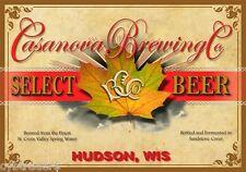 Casanova Brewing Co. Beer Advertising Label Refrigerator/Tool Box  Magnet