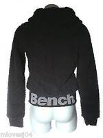 BENCH Black Baa Fleece Zip Up Jacket Top Hoody Coat Fully Lined BENCH  XS S M L