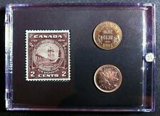 New Brunswick Stamp  2 cent 1934 penny  2012 Commemorative  Stamp & Coins Set