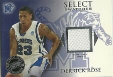 DERRICK ROSE 2009 PRESS PASS SELECT SWATCHES GAME USED JERSEY - ROOKIE!!!!!!!