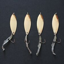Lot 4 Pcs 12 g Metal Darter Spoon Lure Fishing Bait with Hook and Soft Fish