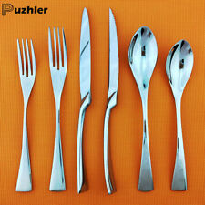 24x Flatware Set 18/10 Stainless Steel Mirror Polish Silver Spoon Knife Cutlery