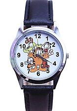 Garfield & Friends Black Leather Band Wrist Watch