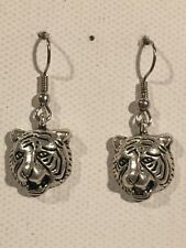 TIGER Earrings Surgical Hook New Jungle Hunter Cat Big (C)