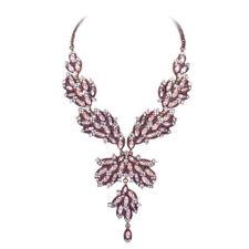 Messing Modeschmuck-Halsketten aus Kristall