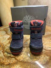 Timberland PolarCave Waterproof Snow Boot Toddler Sz 6;Eu 39;Uk 5.5 NavyBlue/Red