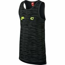 NWT Nike KD Kevin Durant Pivot Basketball Tank Top Deep Pewter Volt Size S Zebra