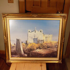 ANTHONY SINCLAIR PAINTING THE GOLDEN MISSION PRINT ON CANVAS WITH FRAME RETIRED
