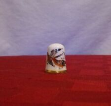 "TCC Caverswall ""Chaffinches"" thimble, great condition, porcelain"